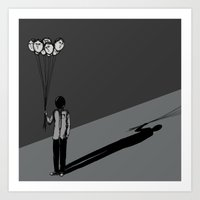 The Black Balloon Art Print