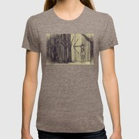 Legolas LOTR - the noisy silence of woods Womens Fitted Tee Tri-Coffee SMALL