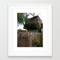 Treehouse Framed Art Print