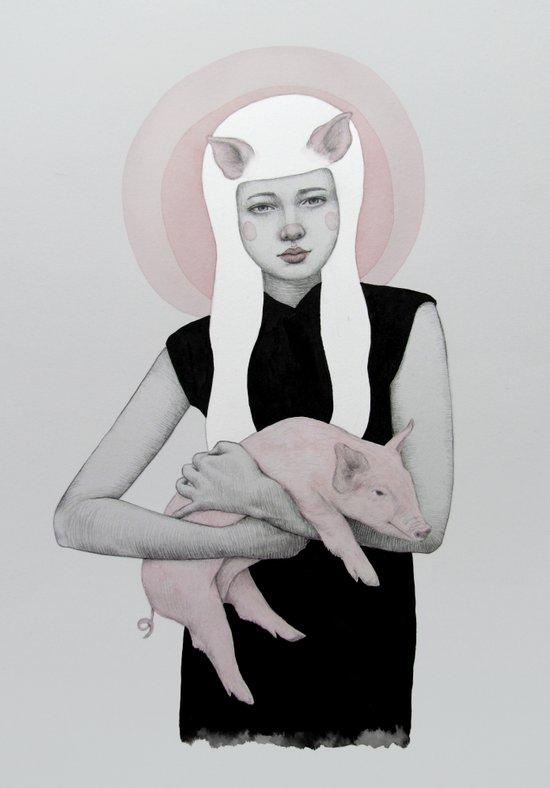 Peonia Canvas Print