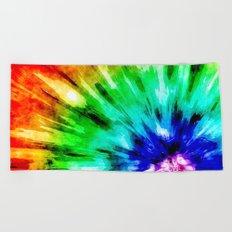 Tie Dye Meets Watercolor Beach Towel