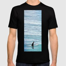 No Hurry Black SMALL Mens Fitted Tee