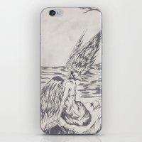 angel on rocks iPhone & iPod Skin