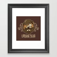 Urbane Bear Framed Art Print