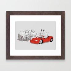 Overcompensating Framed Art Print