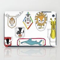 Animals head plaques iPad Case