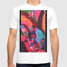 Bzzz Mens Fitted Tee White SMALL
