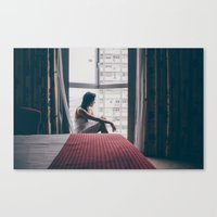 living in a hotel room Canvas Print