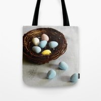Robin's Eggs and Nest Tote Bag