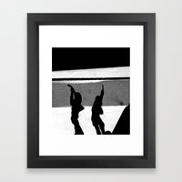 ShadowS Of The Dead Framed Art Print