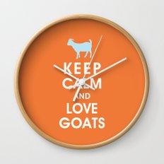 Keep Calm and Love Goats Wall Clock