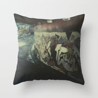 London Graffiti Throw Pillow