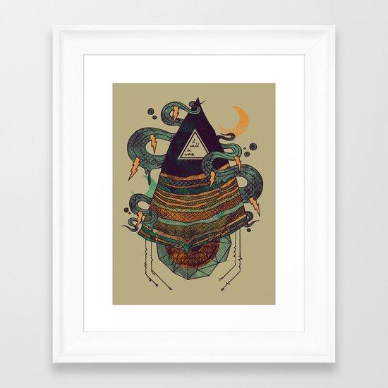 Positive Thinking Framed Art Print