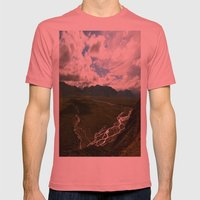Denali  Mens Fitted Tee Pomegranate SMALL