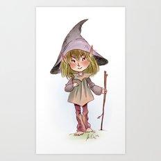 Scouting Sanke Elf Art Print