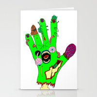 Zombie Hand Stationery Cards