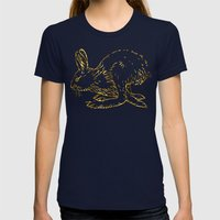 Golden Bun Womens Fitted Tee Navy SMALL