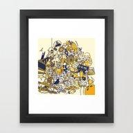 Movies Explosion Framed Art Print