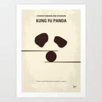 No227 My KUNG FU Panda minimal movie poster Art Print