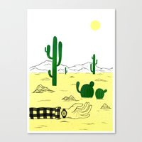Man & Nature - The Desert Canvas Print