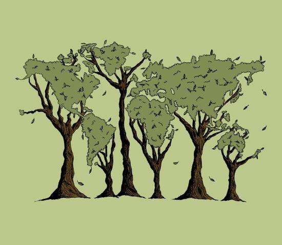 Tree World Art Print