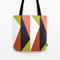 Pink, lime black triangle pattern (2015) Tote Bag