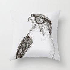 Hawk With Poor Eyesight Throw Pillow