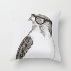 Hawk with Poor Eyesight Throw Pillow
