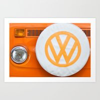 Volkswagen Orange Art Print
