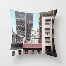 view of NYC from a MoMa window... Throw Pillow