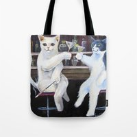 Social Cats  Tote Bag
