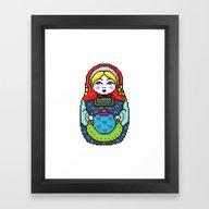 16bit Matrioska Framed Art Print