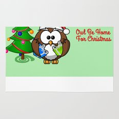Owl Be Home for Christmas Rug