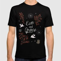 'Ease and Grace' Mens Fitted Tee Black SMALL