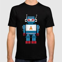 Robot SteveO Mens Fitted Tee Black SMALL