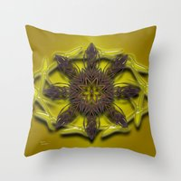 Abstract X Eight Throw Pillow