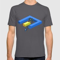 Tron Wall Mens Fitted Tee Asphalt SMALL