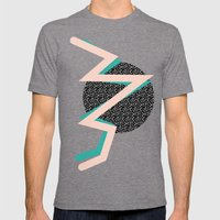 memphis Mens Fitted Tee Tri-Grey SMALL