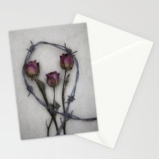 Three dried Roses II Stationery Cards