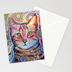 Olivia ... abstract cat art Stationery Cards