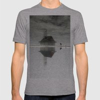 Dogs & Fog Mens Fitted Tee Athletic Grey SMALL