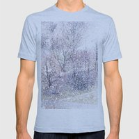 Snow in early fall(2). Mens Fitted Tee Athletic Blue SMALL
