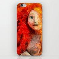 Brave RedHead  iPhone & iPod Skin