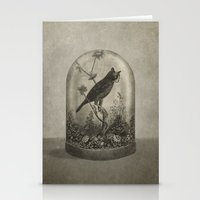 bird Stationery Cards featuring The Curiosity  by Terry Fan