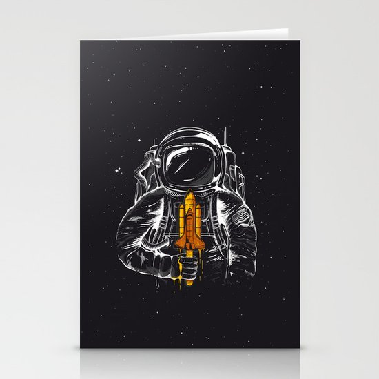 Space Popscicle Stationery Card