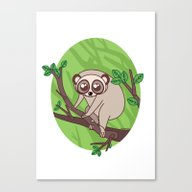 Kawaii Loris Canvas Print