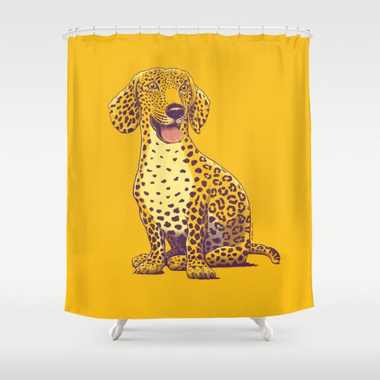 Take a Woof on the Wild Side! Shower Curtain