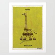 01_GIRAFFEL Art Print