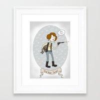 Star Wars fan-girl Framed Art Print