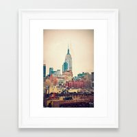 Vintage NYC - Repost For… Framed Art Print